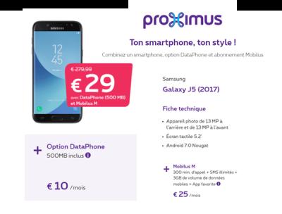 Iphone x avec abonnement proximus