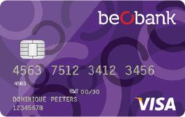 carte visa beobank