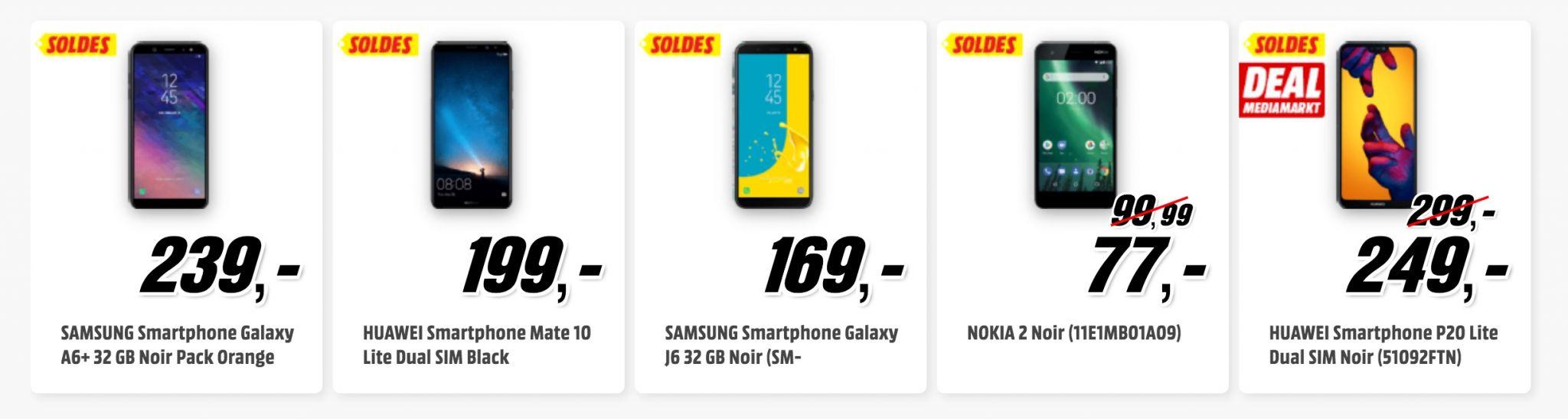 soldes smartphones media markt