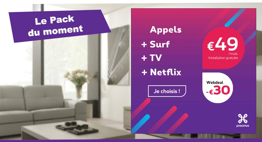 promotion pack tv internet